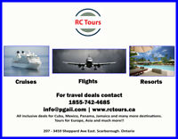 Book your travel with RC Tours