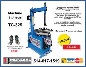 MACHINE A PNEU TIRE CHANGER MACHINE MONDIAL TC325 NEUFGARANTIE