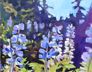 Mountain Lupines  Painting Artwork professional
