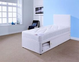 Can Deliver Today Or Day Of Choice Single Bed with Slider Stoarge and Mattress All New