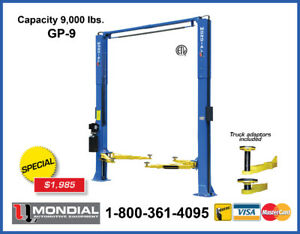 Car Lift GP-9 9000lbs 2 Post, Auto Hoist, 2 Post Lift WARRANTY