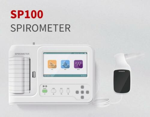 """Portable Spirometer 7"""" Color Touch screen Lung Function Printer Calibration New"""