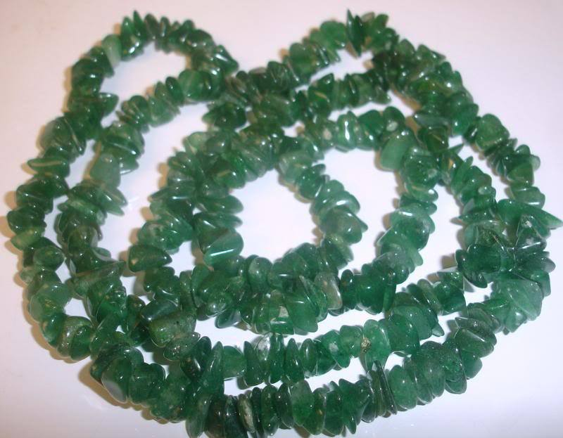 Vintage CHINESE Natural Green Jade Necklace