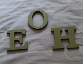 Wooden letters...only these 3!!