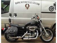 AMAZING 2009 HARLEY DAVIDSON XL1200L LOW SPORTSTER FSH BAGS 3 OWNERS 11522 MILES