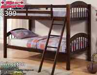 GREAT SELECTION OF SINGLE BUNK BEDS STARTING AT $249