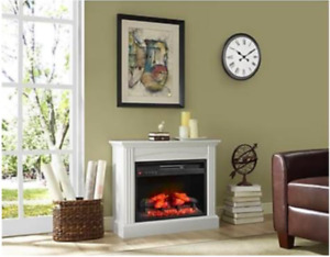 """Amazing Deal for Brand New 32"""" Small White Mantel Fireplace"""
