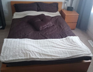 MALM FULL SIZE BED WITH NIGHTSTAND SET! BOTH FOR $150