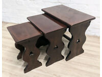 Oak Nest Of Tables (DELIVERY AVAILABLE)