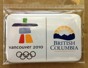 "100 New Vancouver Winter Olympic 2010 Pin,B.C.Official,2.5"" $0.5"