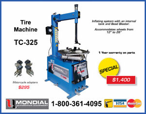 NEW TIRE CHANGER TIRE MACHINE WITH INFLATOR TC-325 11-24""