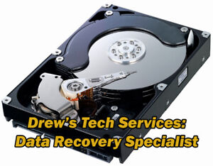 Hard Drive Crashed? Talk to DREW! ~ THE DATA RECOVERY SPECIALIST