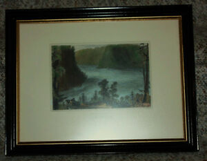 Framed original Bartlett print: The Whirlpool