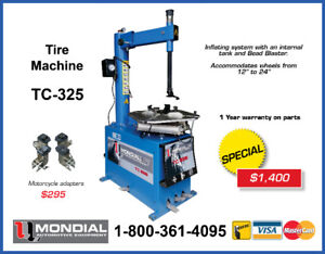 "Tire Machine Tire Changer 12-24 "", with Bead Blaster NEW !!!!"