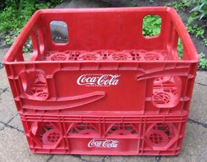 2 caissettes empilables Coca-Cola