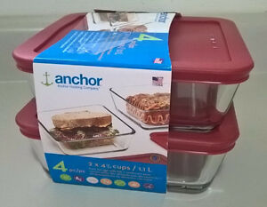 Anchor Hocking 4-3/4 Cup True Seal Food Storage Containers