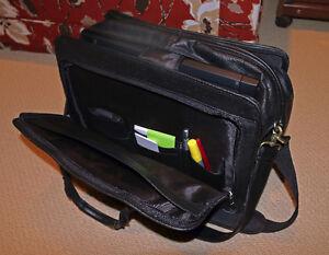 "Bugatti Murano Leather 15"" Laptop Business Bag London Ontario image 2"