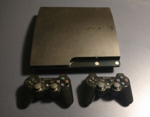 PS3 Slim Mint In Box w/ 2 Controllers Uncharted Trilogy LBP