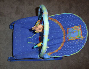 Vibrating Fisher Price infant to toddler rocking bouncy chair