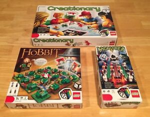 Lego Board Game Bundle - The Hobbit, Creationary, and Monster 4