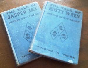 2 Books, Tuck-Me-In Tales, 1917, Arthur Scott Bailey