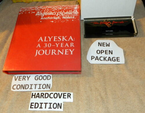 Alaska Pipeline Oil Ten Billion Barrels Paperweight Book BP Oil Alyeska History