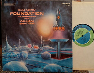 ISAAC ASIMOV Foundation Vinyl LP w/ William Shatner 75 STAR TREK
