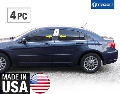 TYGER Fits 07-10 Chrysler Sebring 4PC Stainless Steel Chrome Pillar Post Trim