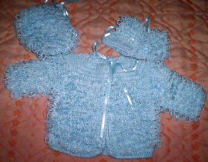 NEW Handknit Baby Outfit
