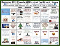 December at The East Branch Public Library...
