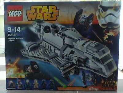 LEGO 75106 STAR WARS Imperial Assault Carrier Full Set New Sealed