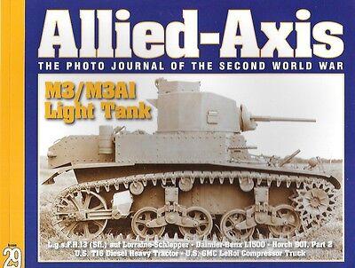 Allied Axis 29 Ww Ii Journal M3 M3a1 Light Tank Horch 901 T16 Diesel Tractor Gnc