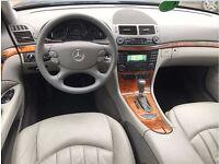 LHD LEFT HAND DRIVE MERCEDES E220 CDI ELEGANCE 2008 AUTOMATIC BLUE GREY LEATHER SAT NAV ESTATE I