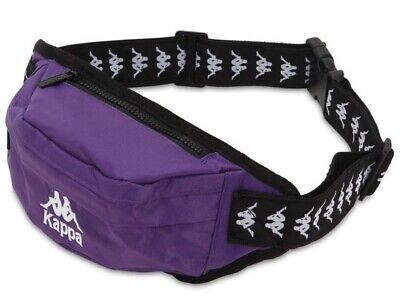 Kappa Banda Anais Authentic Waste Band Pouch, Violet Pansy-Black NWT