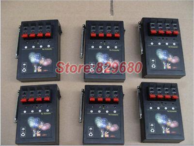 6PCS 4CH  fireworks firing system 433MHZ wireless remote receiver box salvo fire