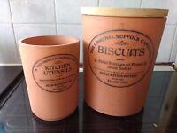 Kitchen storage terracotta pottery