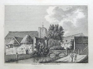 WALTHAM-ABBEY-ESSEX-Original-antique-print-1783