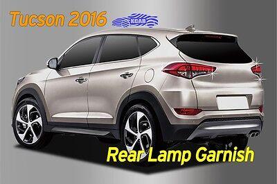 Rear Lamp Molding Chrome Silver Garnish Cover 4P D817 for Hyundai Tucson 2016~18