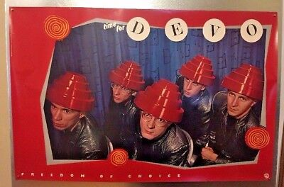 "DEVO - Freedom of Choice Original 1980 Promo Poster RARE New Wave 35""x23"""