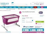 IMMACULATE Chicco Next2Me (Ltd. Edition: Fuschia Pink) RRP £165