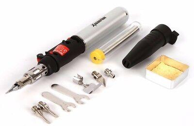 Cordless Butane Self Igniting Torch Multi Function Heating Tool Kit Solder Iron