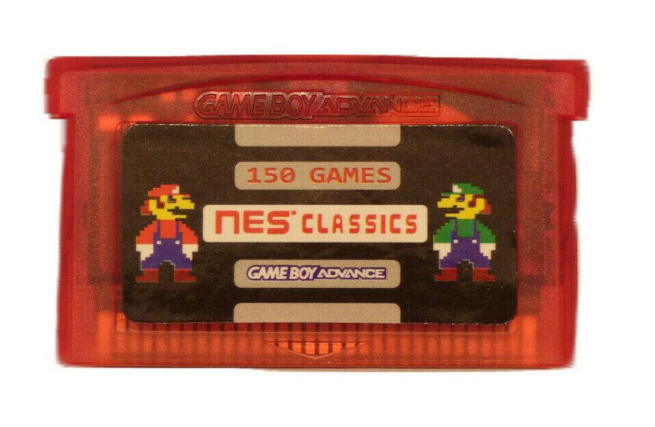 150 in 1 NES Retro Games For Gameboy Advance SP Classic MARI