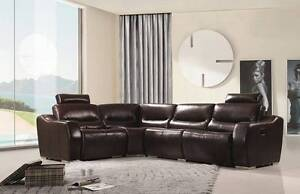 Brand NEW YFF Coogee Cowhide Top Grain Leather Sofa Lounge Suite Auburn Auburn Area Preview