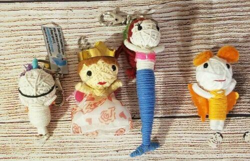 Kamibashi Original String Doll Gang Lot of 4 Unicorn Princess Mermaid Butterfly