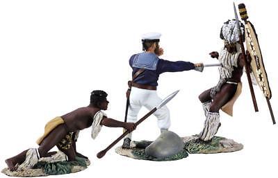 BRITAINS ANGLO ZULU WAR 20129 SEAMAN AYNSLEY'S DEMISE HAND TO HAND SET MIB