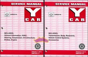 CORVETTE SHOP MANUAL CHEVROLET SERVICE REPAIR 2005 BOOK SET FACTORY WORKSHOP Z06