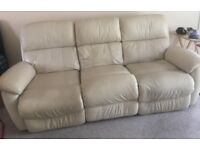 3 Seater Sofa Leather Reclining