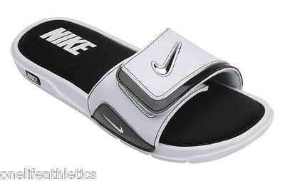 New Men's Nike Comfort Slide 2 Slide Sandals NWT NEW Flip flops White