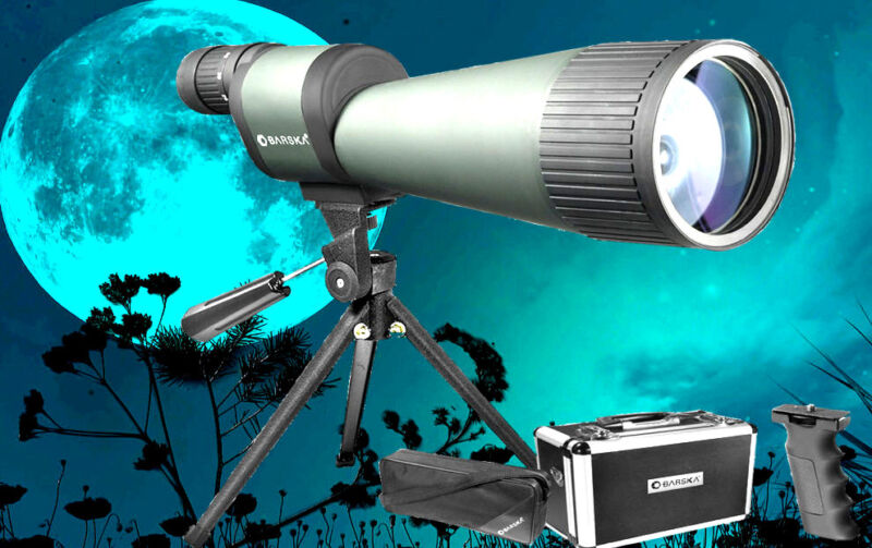 """BARSKA 25-125x88mm(3-1/2""""!!)WATERPROOF SPOTTING SCOPE"""
