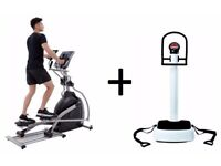 PACKAGE DEAL - Professional Cross Trainer + Vibration Plate (CAN DELIVER )
